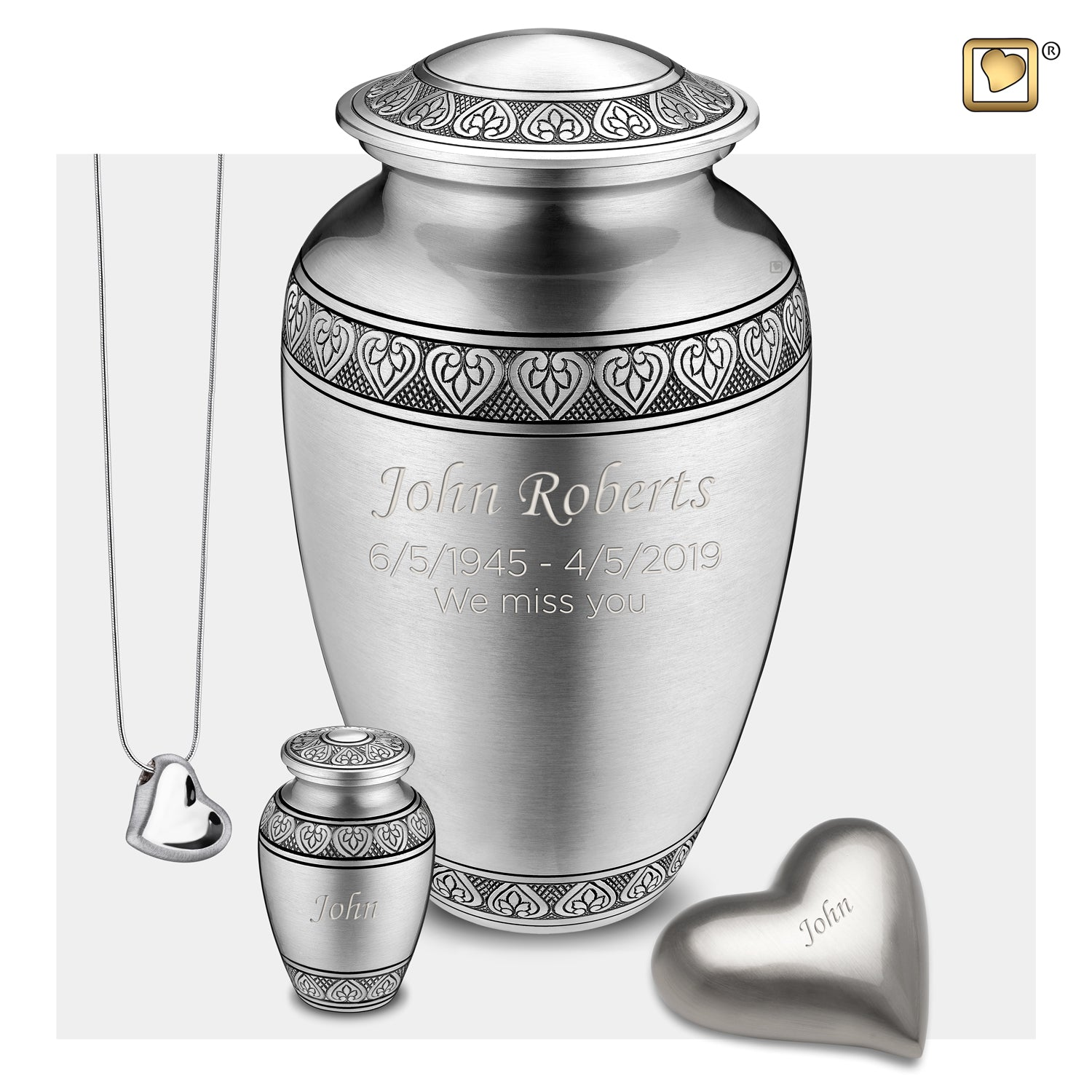 Adult Classic Pewter Cremation Urn