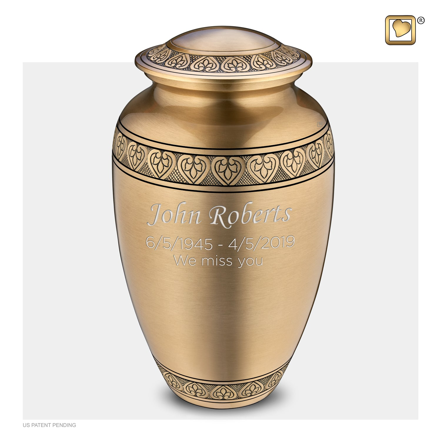 Adult Classic Gold Cremation Urn