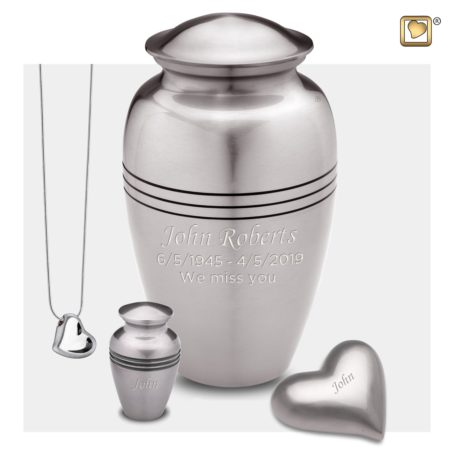 Adult Radiance Pewter Cremation Urn