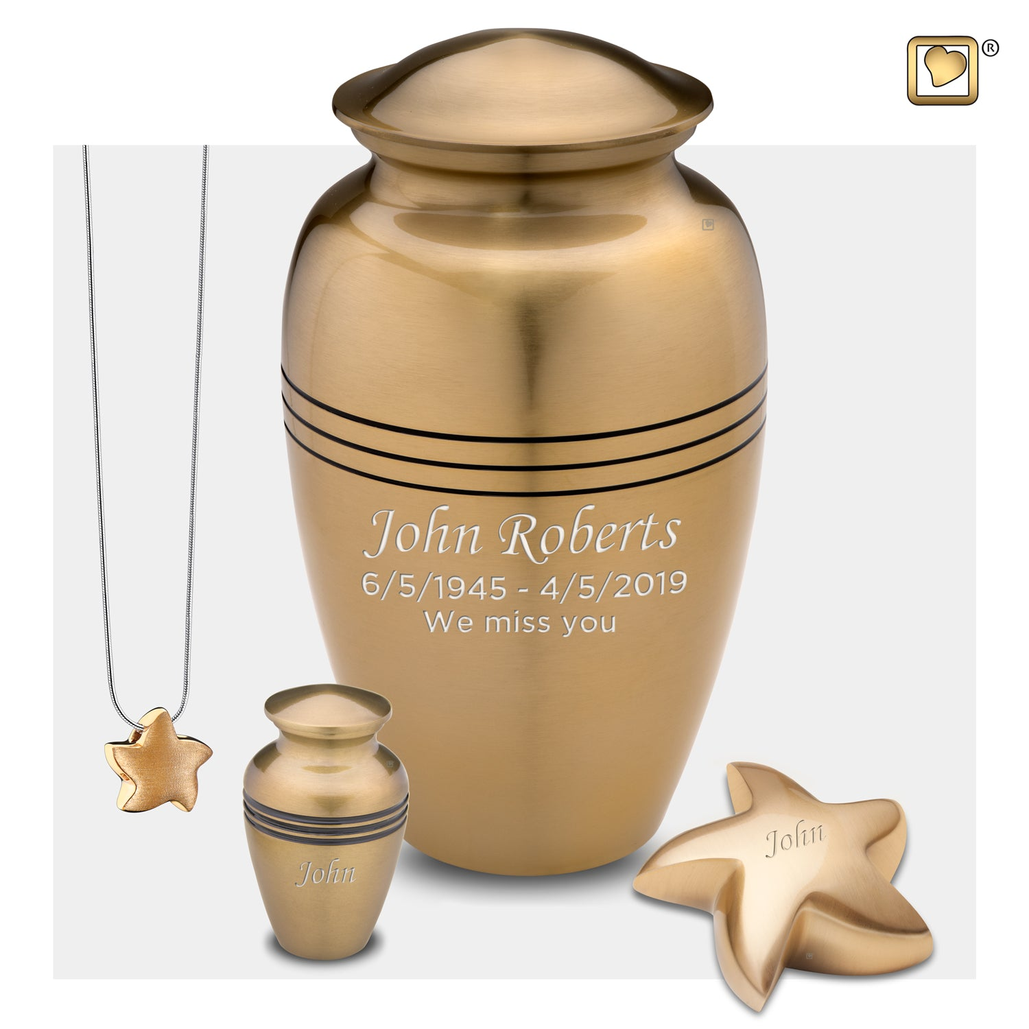 Adult Radiance Gold Cremation Urn