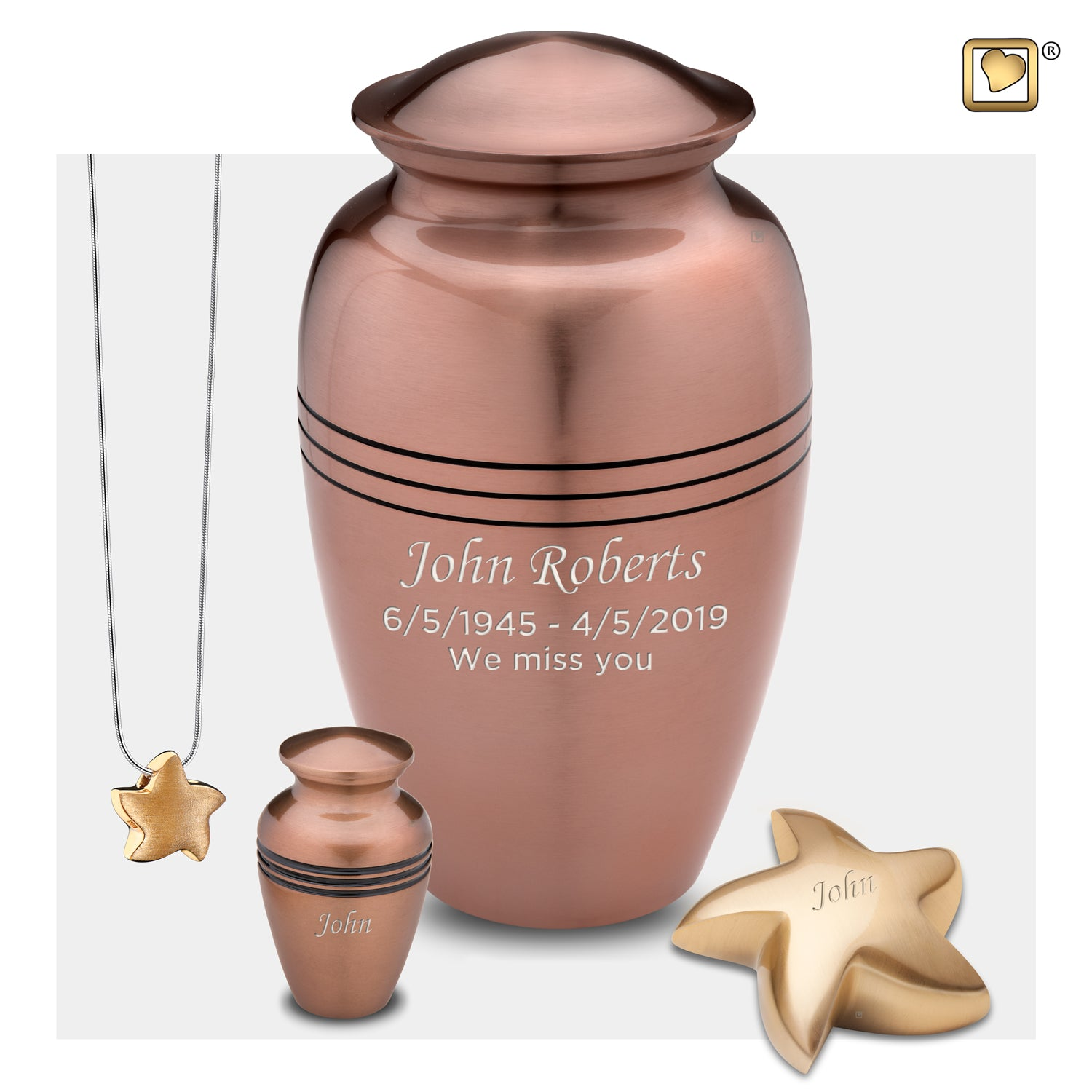 Adult Radiance Copper Cremation Urn