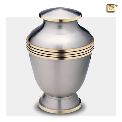 Adult Elegant Pewter Cremation Urn