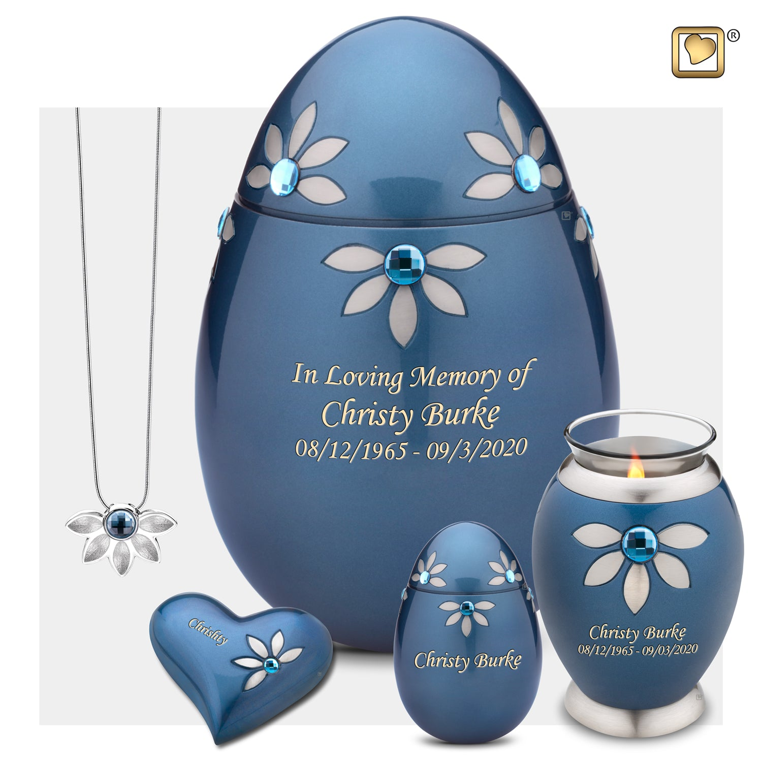 Medium Nirvana Azure Cremation Urn