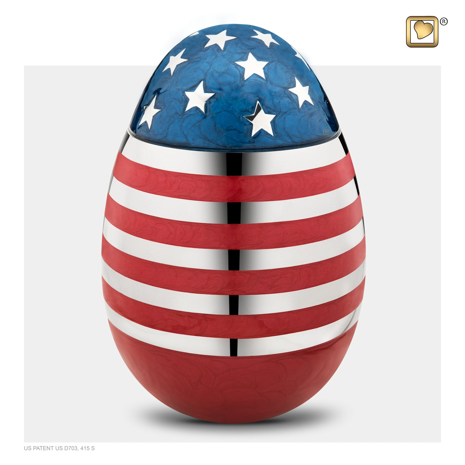 Adult Stars & Stripes Cremation Urn