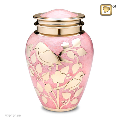 Adult Gold Blessing Birds Cremation Urn
