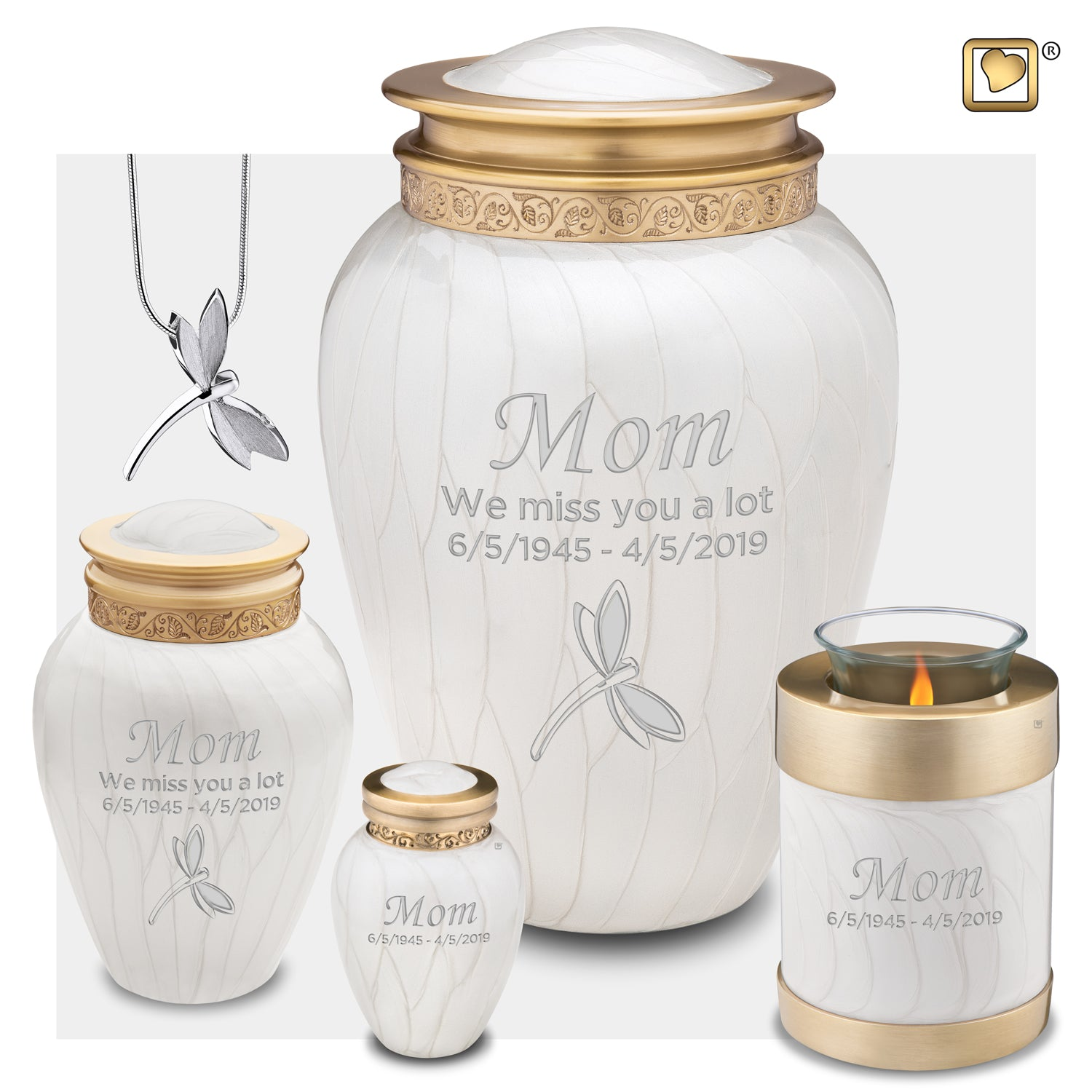 Medium Blessing Pearl Cremation Urn