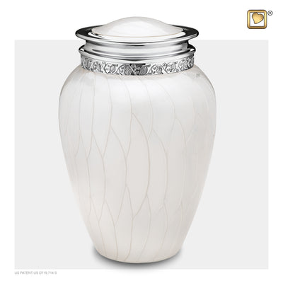Adult Blessing Pearl Silver Cremation Urn