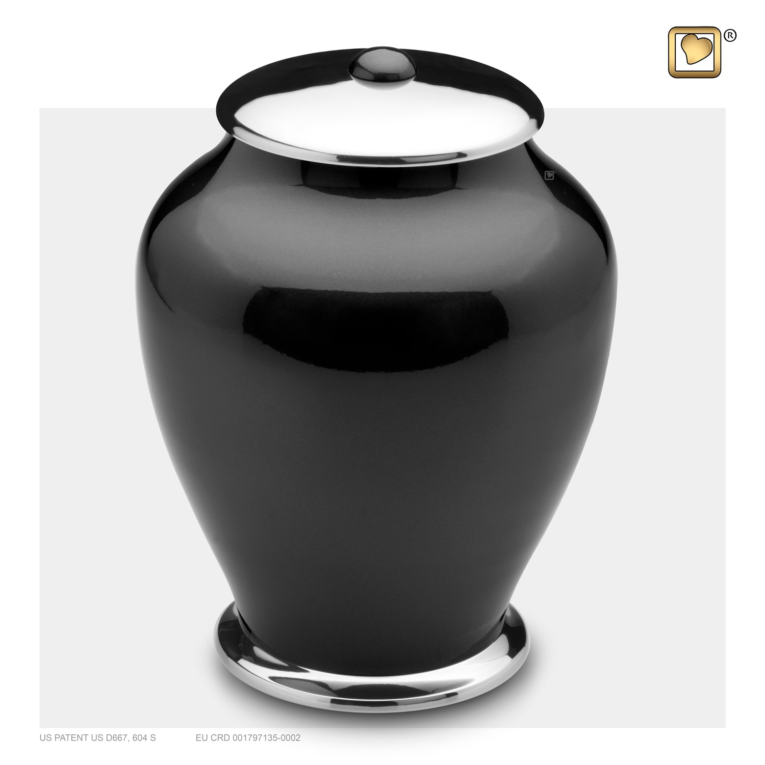 Adult Tall Simplicity Midnight Cremation Urn