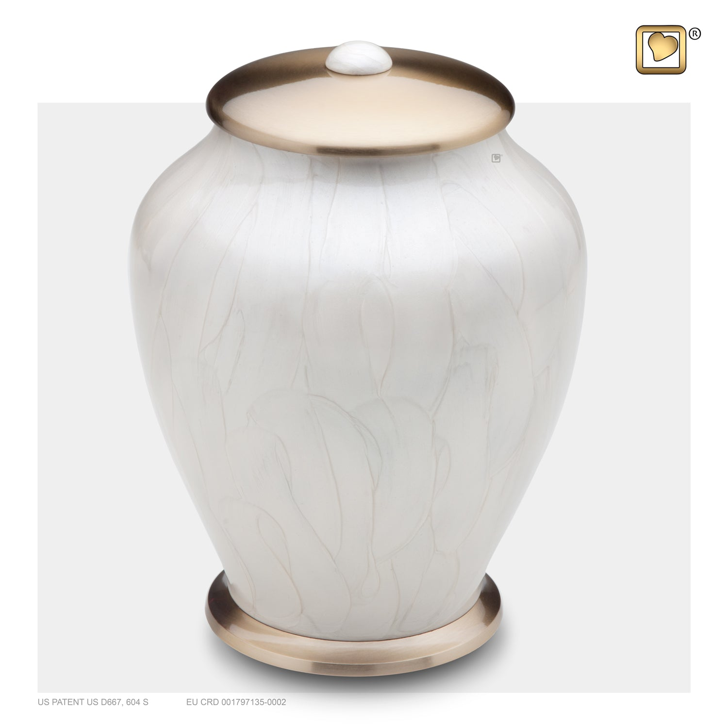 Adult Tall Simplicity Pearl Cremation Urn