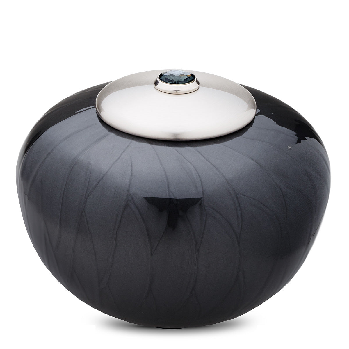 Adult Round Simplicity Midnight Pearl Cremation Urn