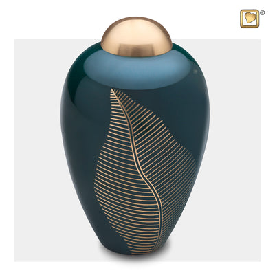 Adult Emerald Leaf Cremation Urn
