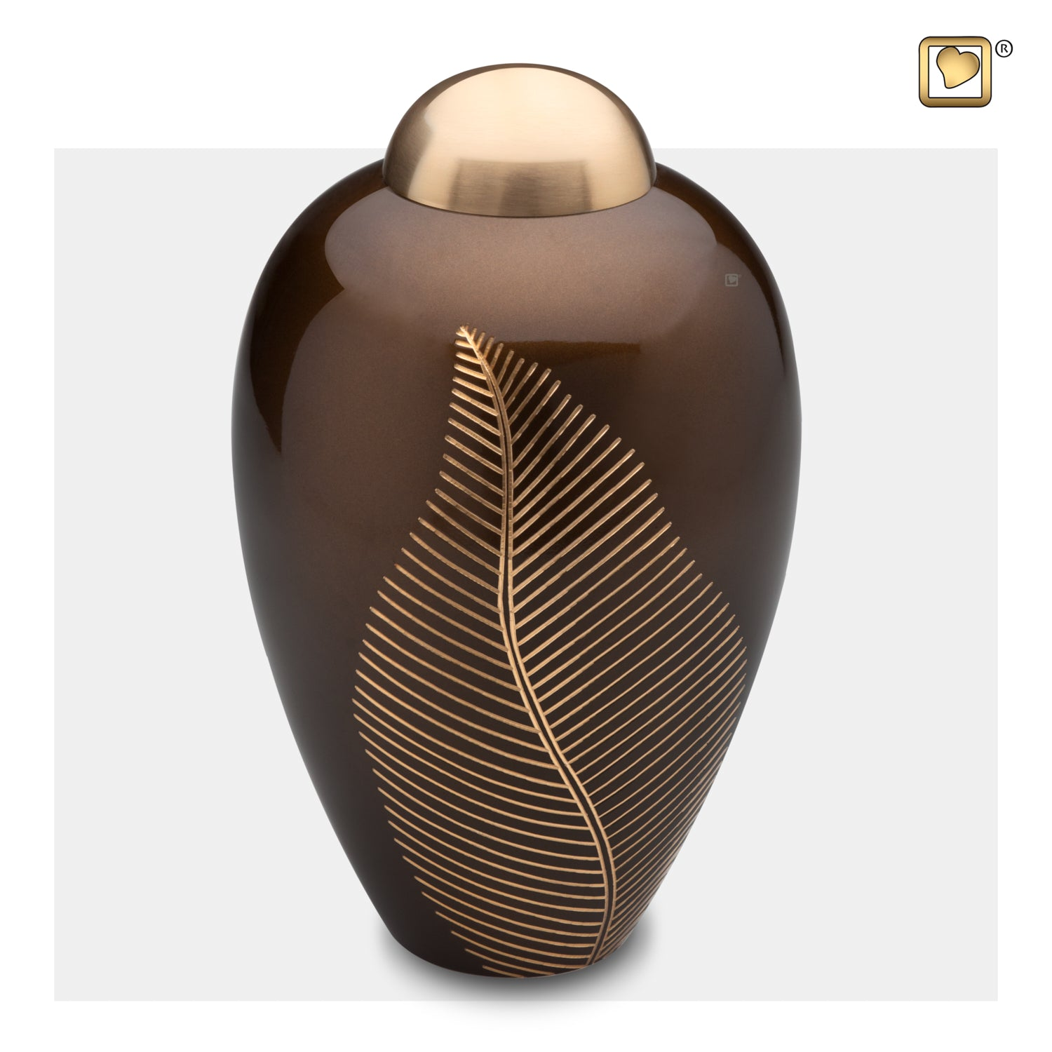 Adult Bronze Leaf Cremation Urn