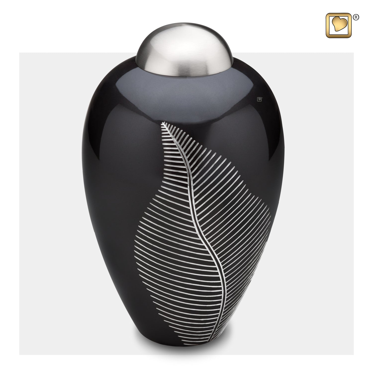 Adult Midnight Leaf Cremation Urn