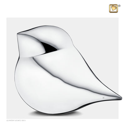 Adult Silver SoulBird Male Cremation Urn