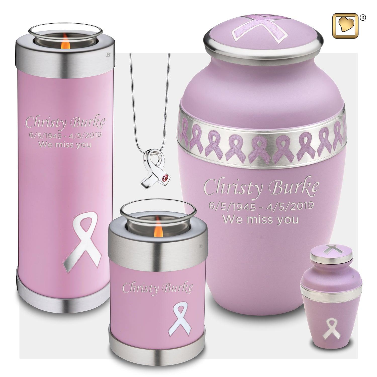 Adult Awareness Pink Cremation Urn
