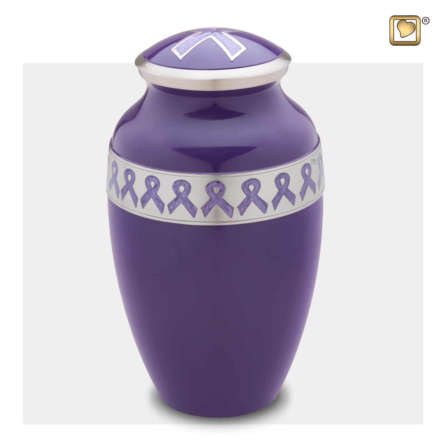 Adult Awareness Purple Cremation Urn