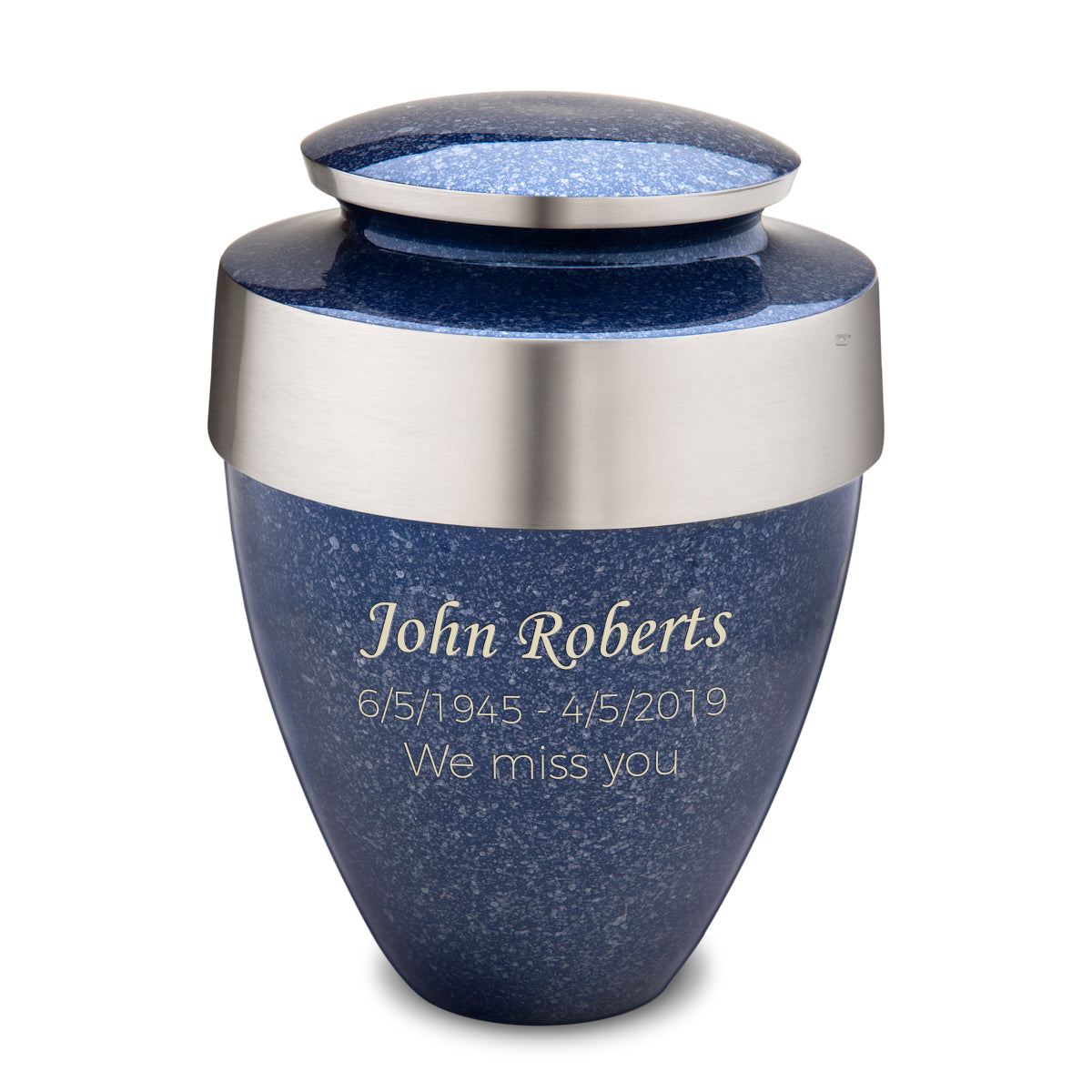 Adult Eternity Speckled Indigo Cremation Urn