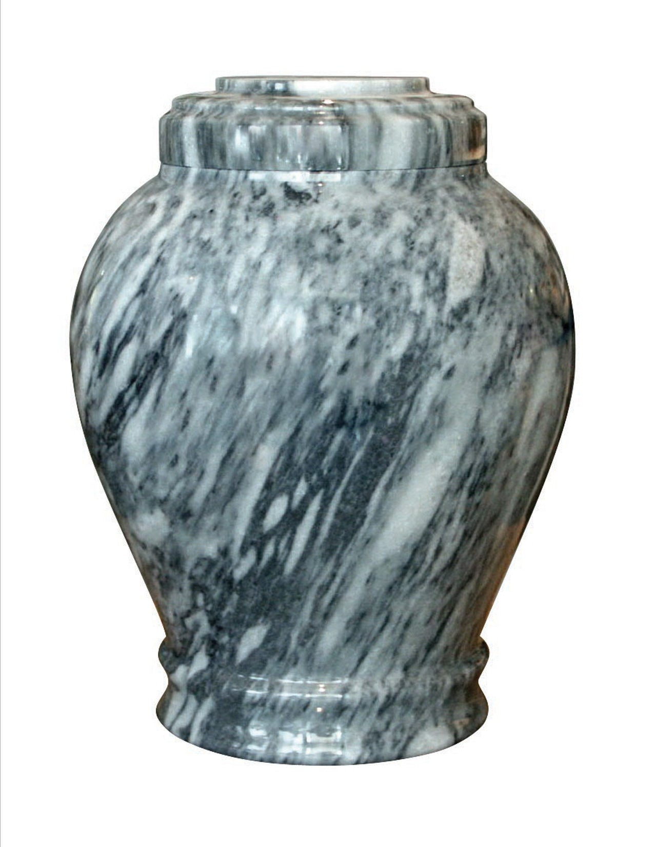 Cashmere Gray Traditional Marble Cremation Urn
