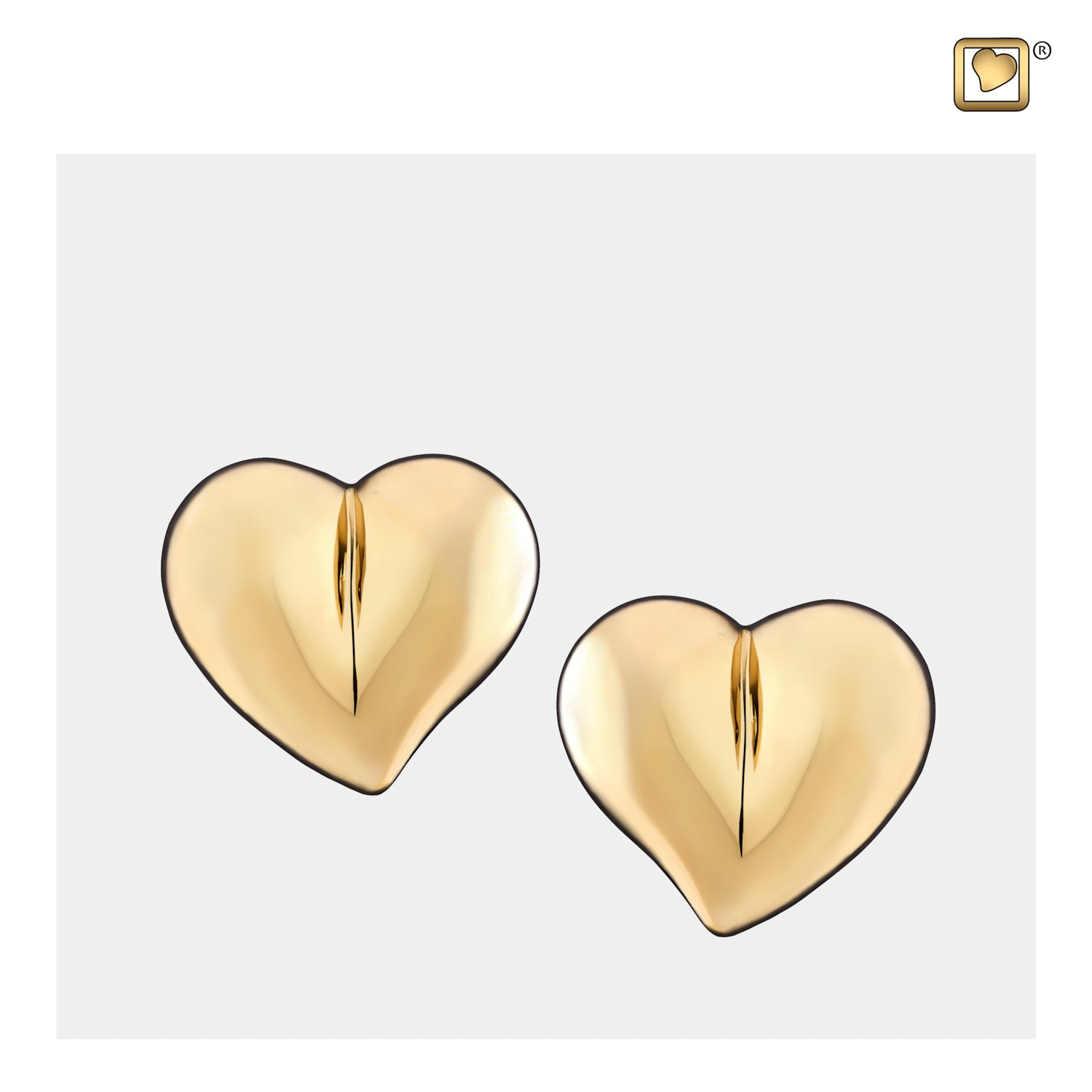 Sterling Silver Stud Earrings LoveHeart Gold Vermeil  Cremation Jewelry