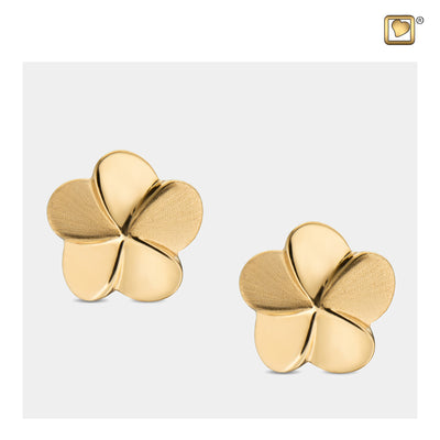 Sterling Silver Stud Earrings Bloom Gold Vermeil Two Tone  Cremation Jewelry