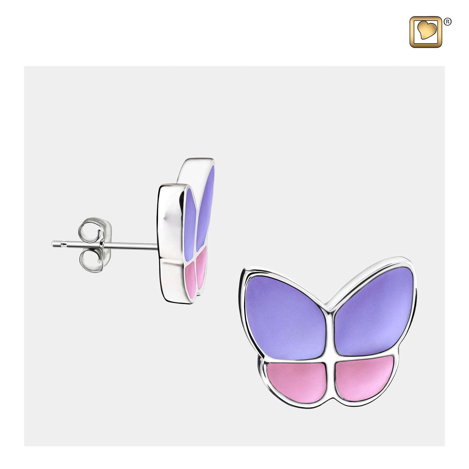 Wings of Hope Butterfly Lavender Earrings