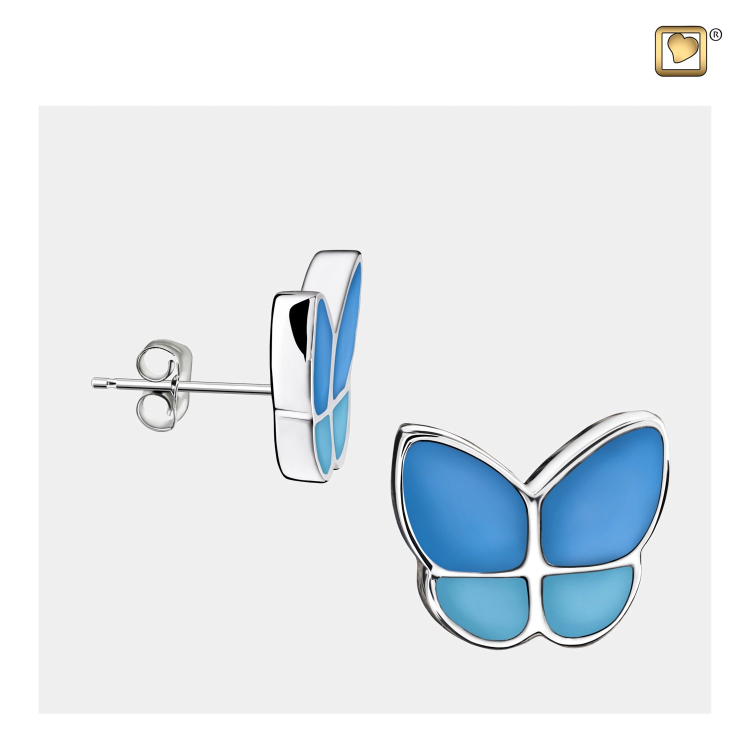 Wings of Hope Butterfly Blue Earrings