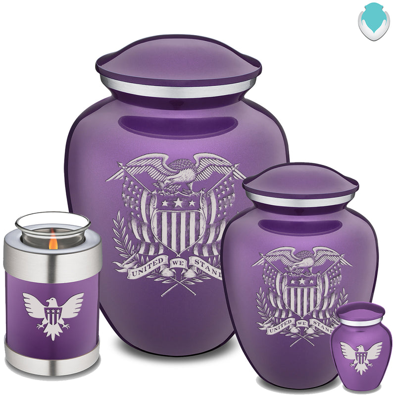 Candle Holder Embrace Purple American Glory Cremation Urn