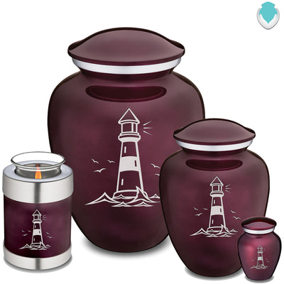 Adult Embrace Cherry Purple Lighthouse Cremation Urn