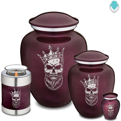 Candle Holder Embrace Cherry Purple Skull Cremation Urn