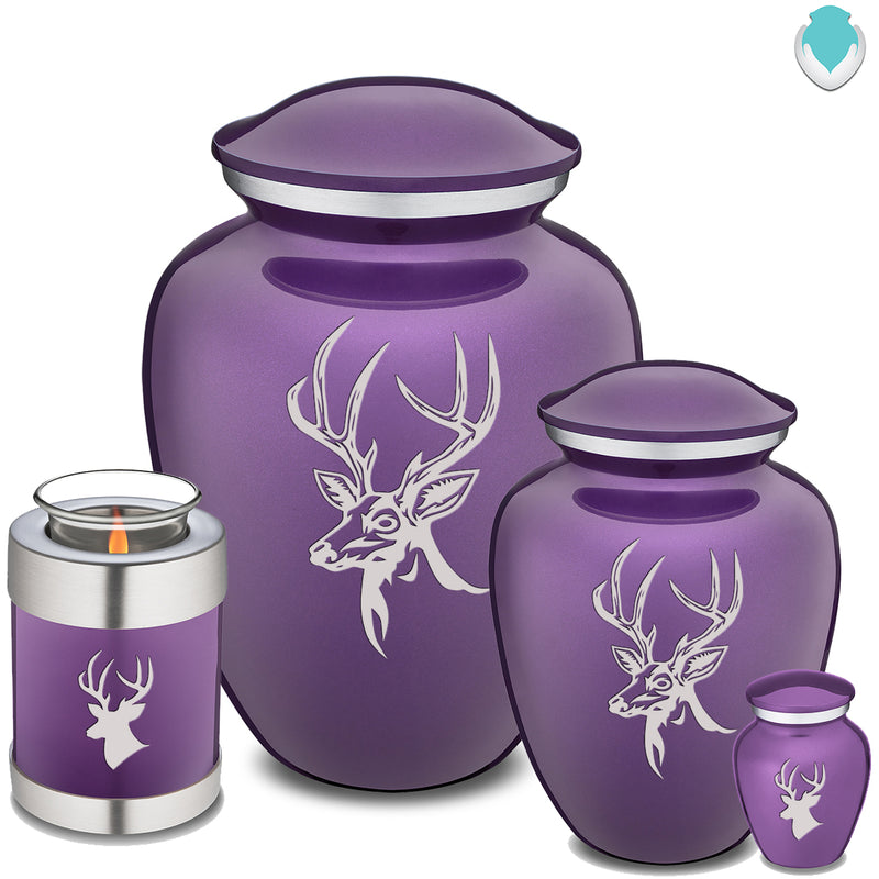Candle Holder Embrace Purple Deer Cremation Urn