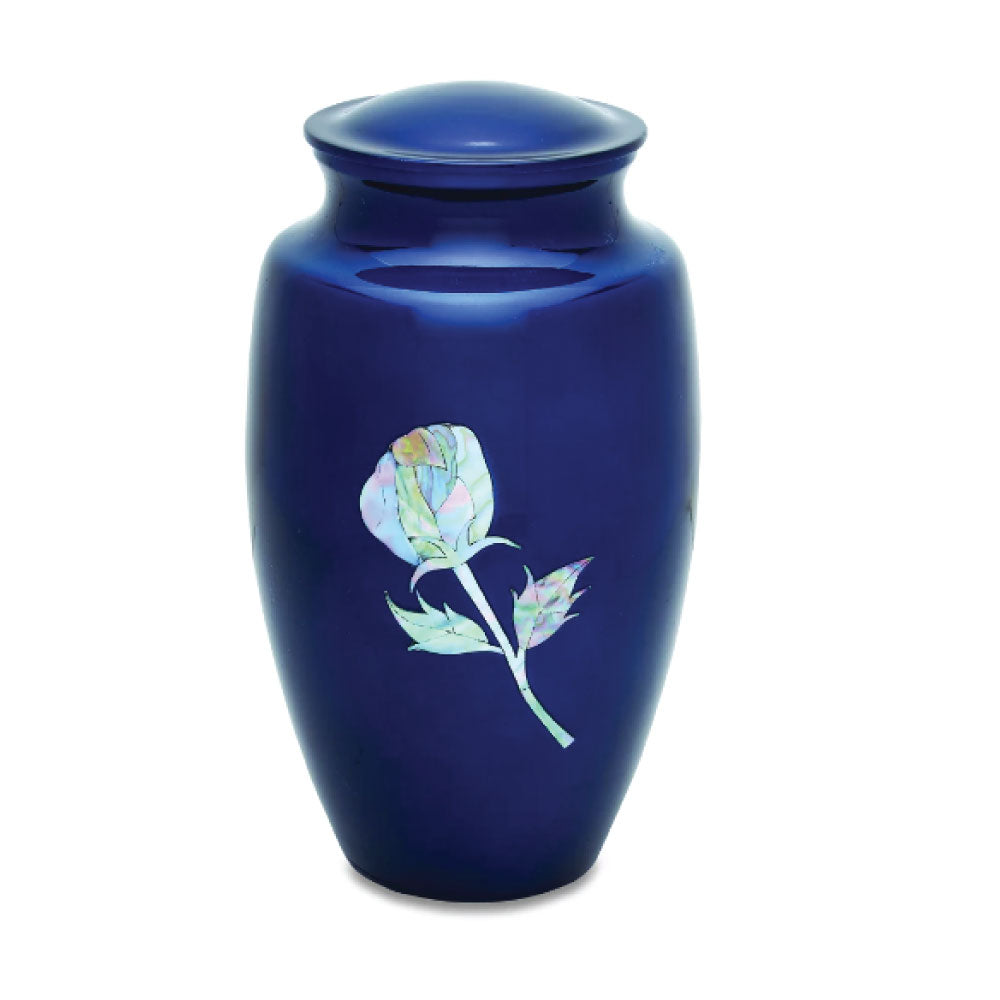 Adult Rose Mother of Pearl Cremation Urn