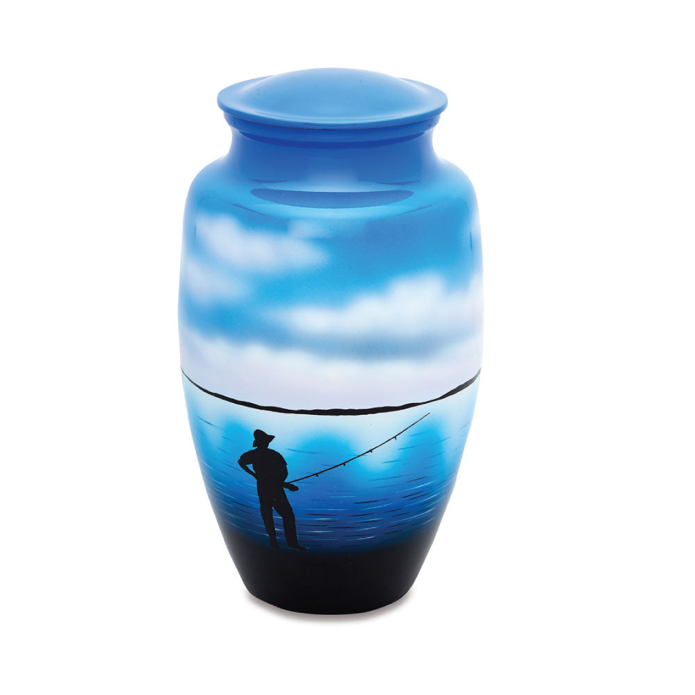 Fisherman Cremation Urn