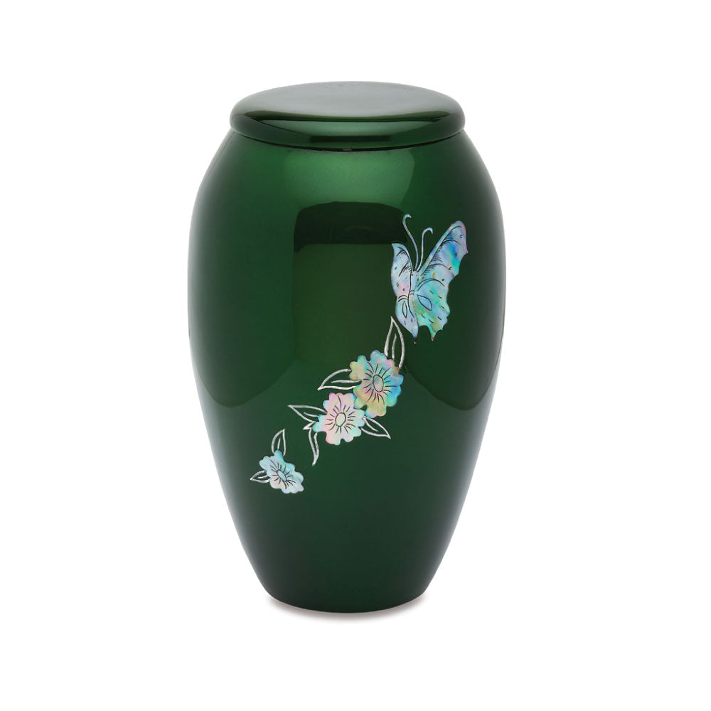 Green Butterfly Cremation Urn