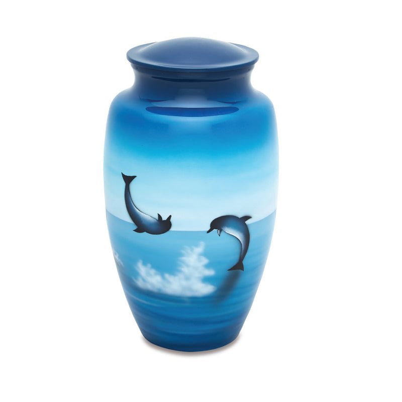 Jumping Dolphins Cremation Urn