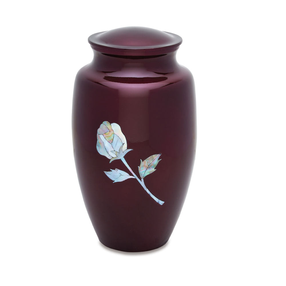 Pearl Rose Cremation Urn