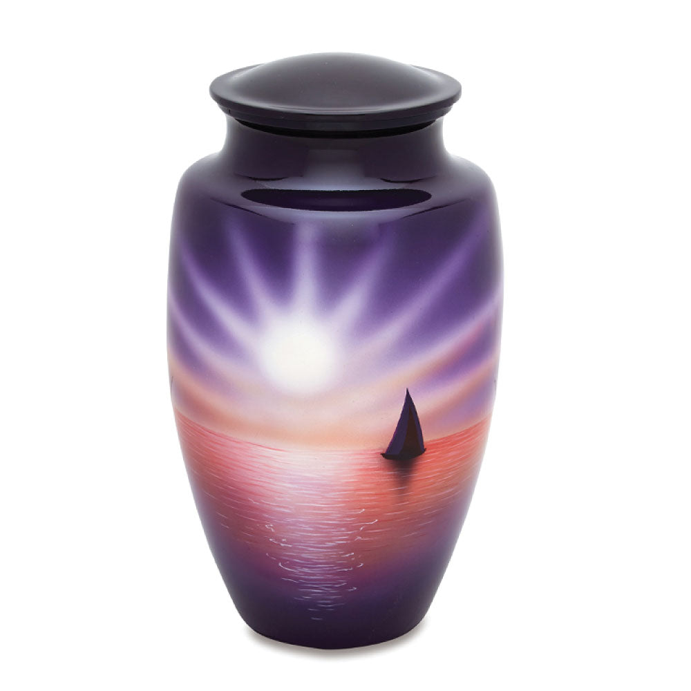 Sunset Hand Painted Adult Cremation Urn