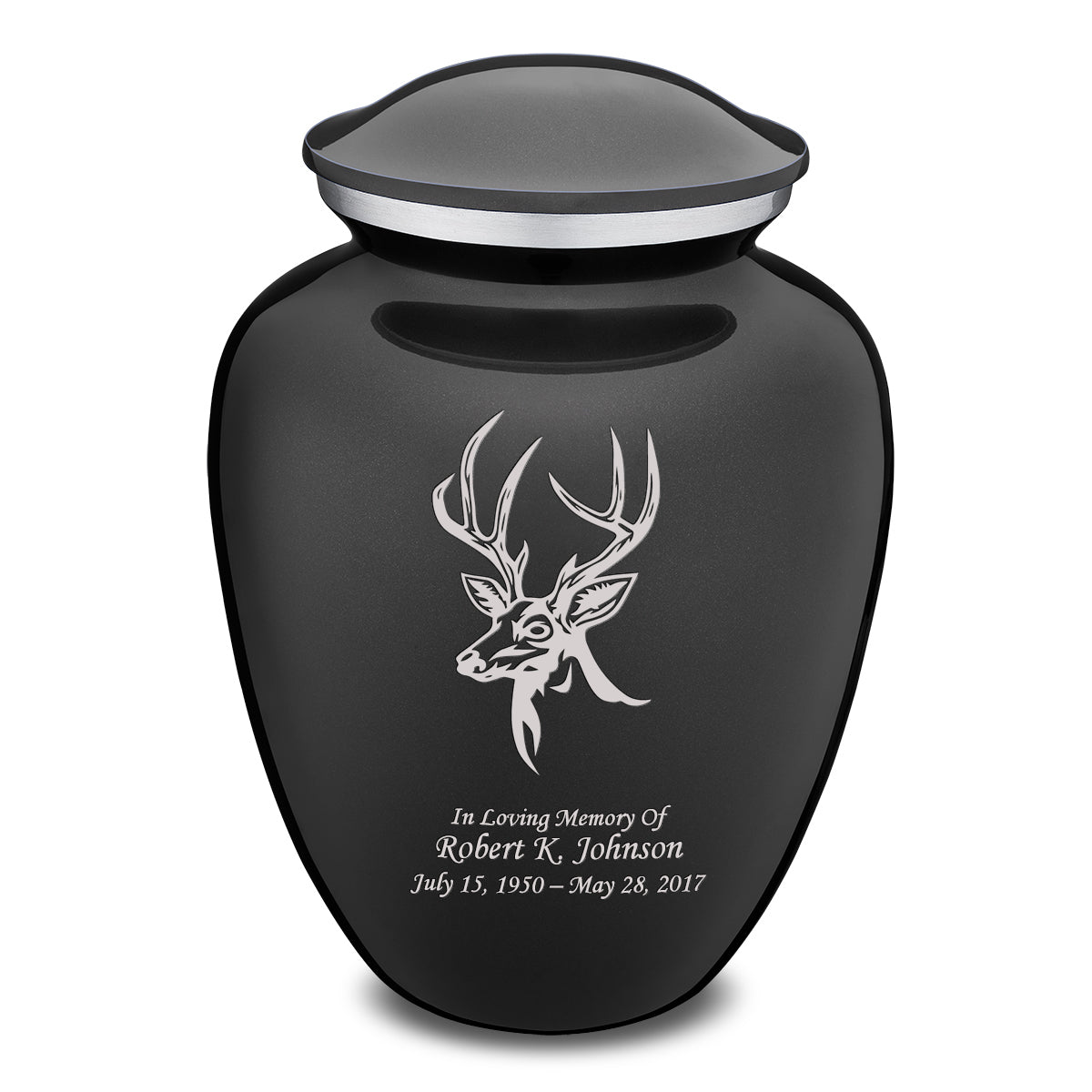 Adult Embrace Charcoal Grey Deer Cremation Urn