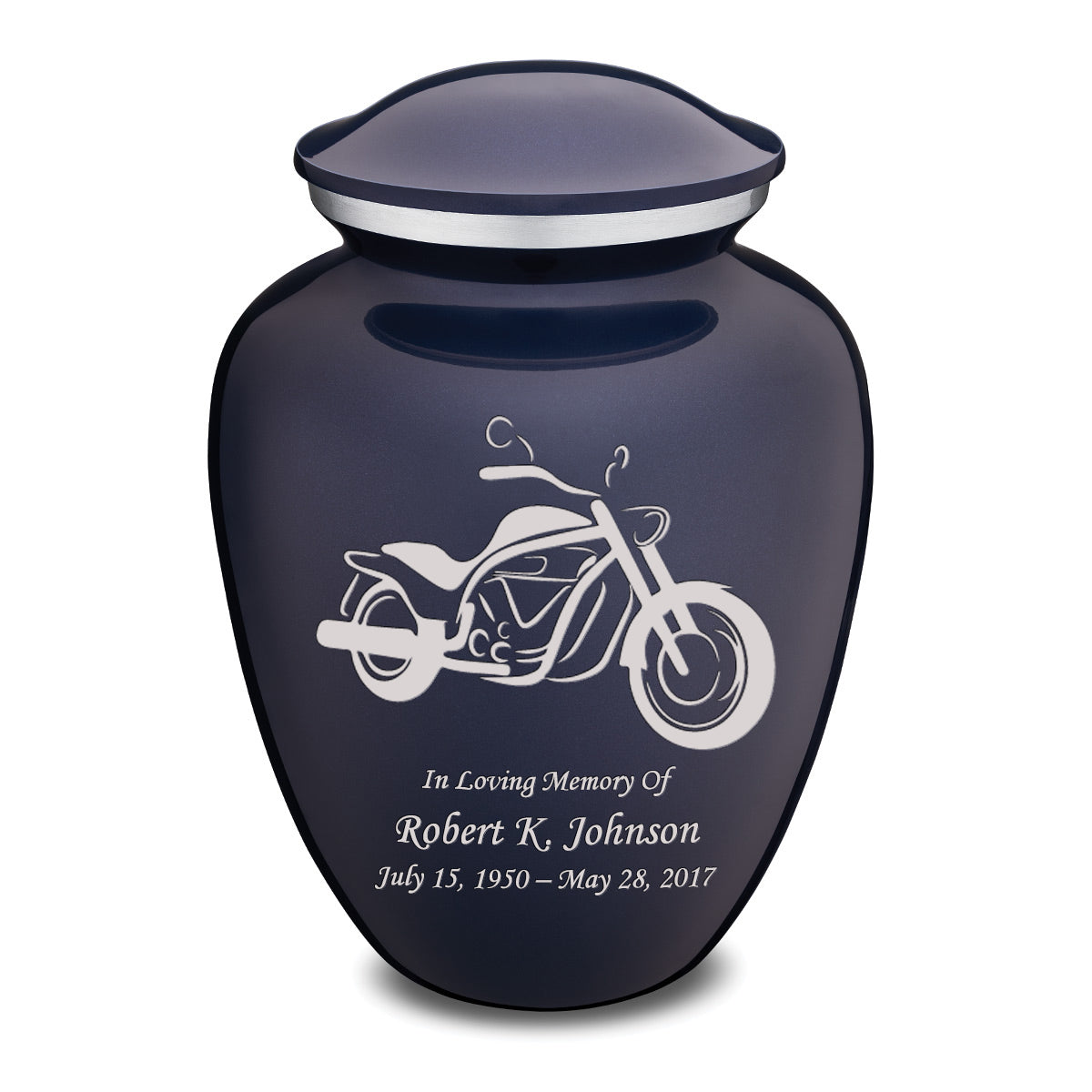 Adult Embrace Cobalt Motorcycle Cremation Urn