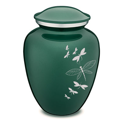 Adult Embrace Green Dragonflies Cremation Urn