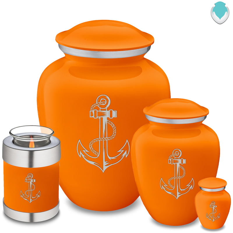 Adult Embrace Burnt Orange Anchor Cremation Urn