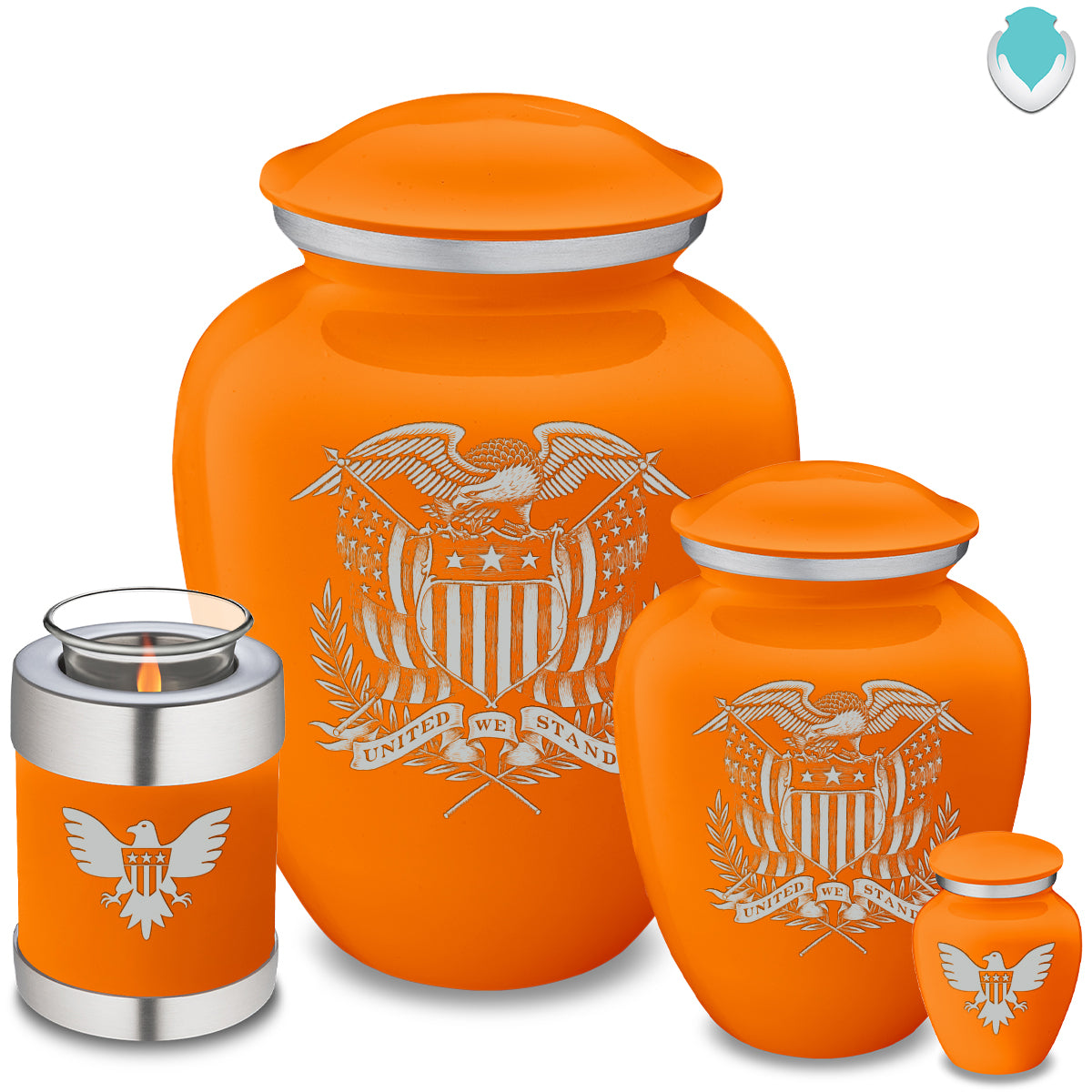 Adult Embrace Burnt Orange American Glory Cremation Urn
