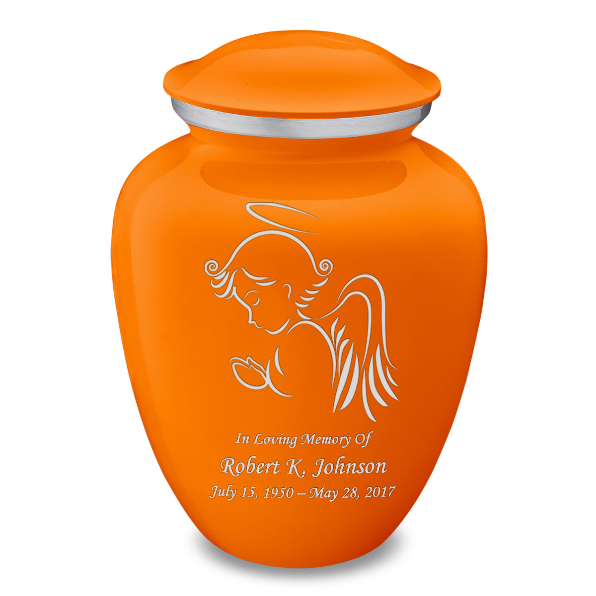 Adult Embrace Burnt Orange Angel Cremation Urn