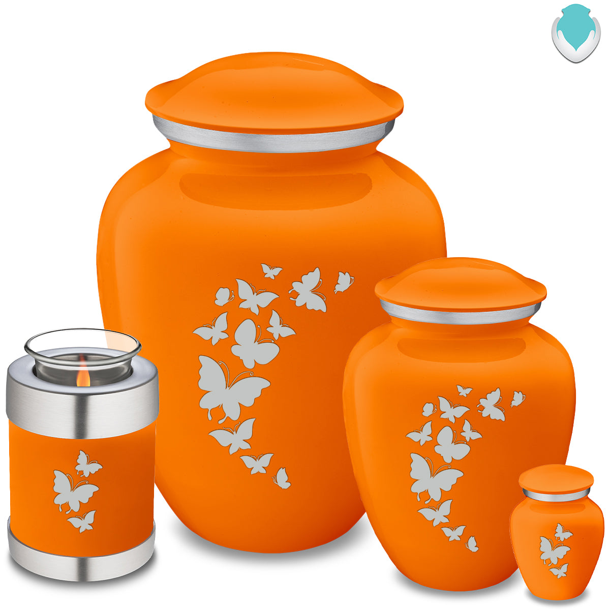 Adult Embrace Burnt Orange Butterfly Cremation Urn