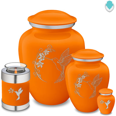 Keepsake Embrace Burnt Orange Hummingbird Cremation Urn