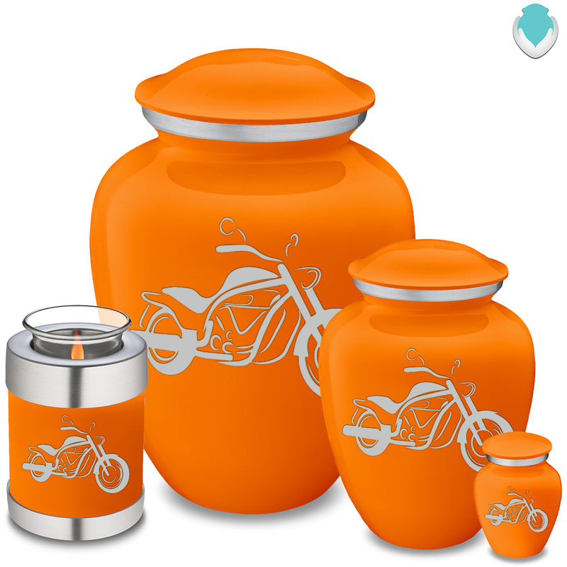 Adult Embrace Burnt Orange Motorcycle Cremation Urn