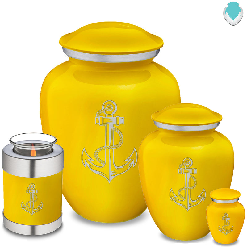 Candle Holder Embrace Yellow Anchor Cremation Urn