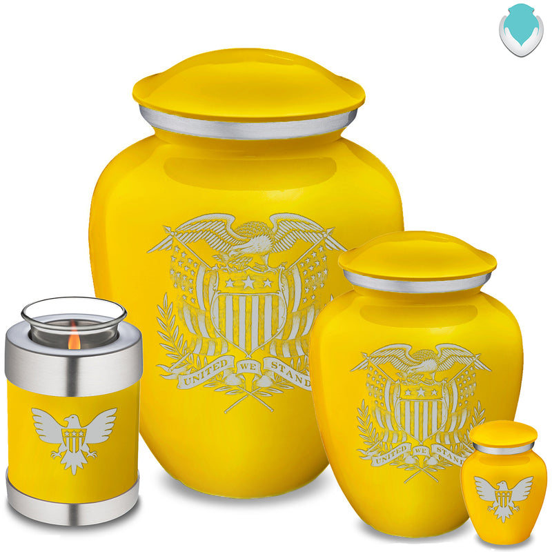 Candle Holder Embrace Yellow American Glory Cremation Urn