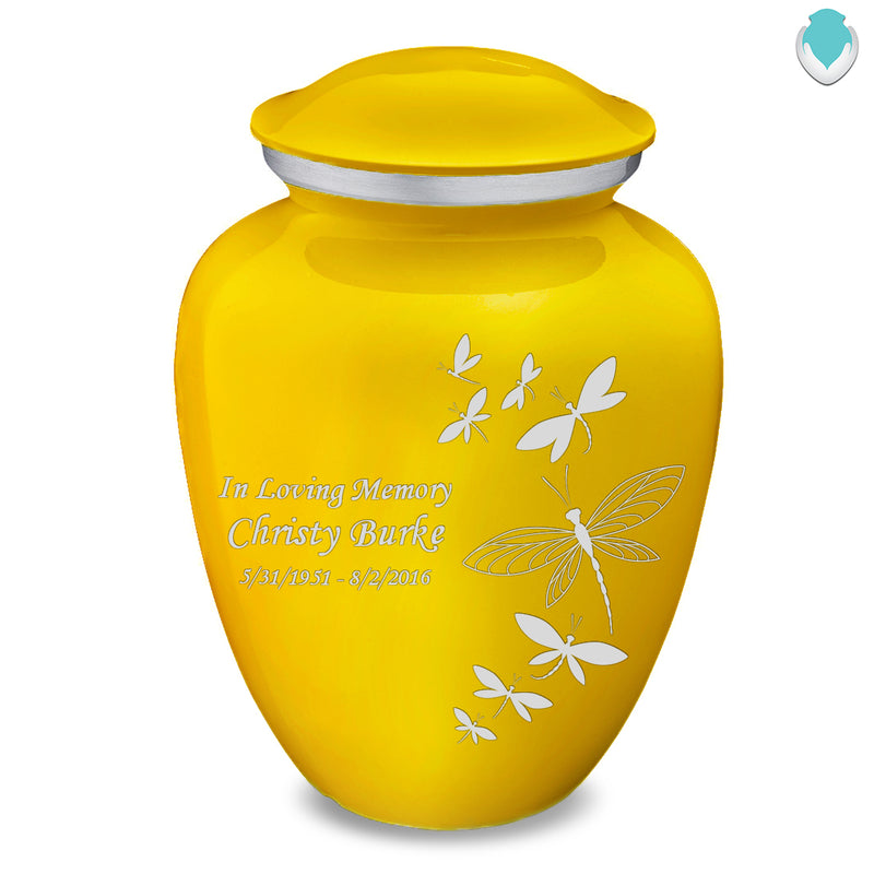 Adult Embrace Yellow Dragonflies Cremation Urn