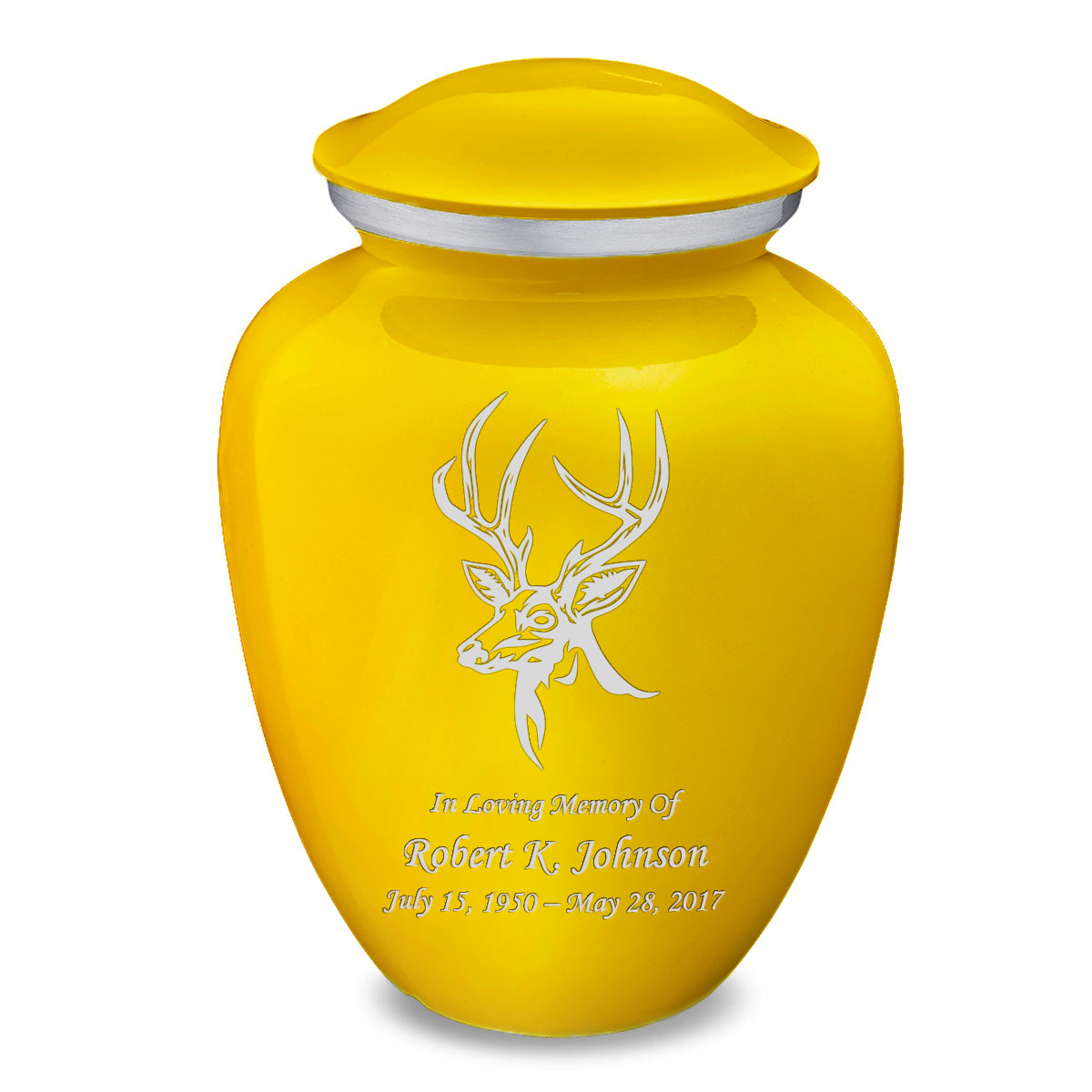 Adult Embrace Yellow Deer Cremation Urn