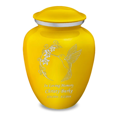 Adult Embrace Yellow Hummingbird Cremation Urn